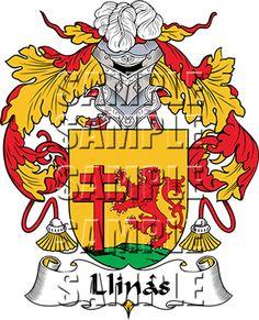 Llinas Family Crest apparel, Llinas Coat of Arms gifts