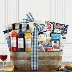 Wine Gift Baskets - Spanish Trio Wine Gift Basket Kettle Corn Popcorn, Honey Crunch, Wine Gift Baskets, Sauvignon Blanc, Wine Gifts, Wines, Spanish, Goodies, Simple