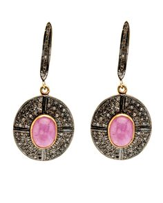 Royal Nomad Ruby and Diamond Pave Earrings