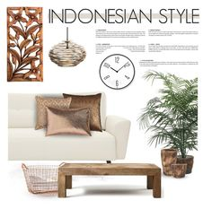"""""""INDONESIAN STYLE"""" by defivirda ❤ liked on Polyvore featuring interior, interiors, interior design, home, home decor, interior decorating, Korbo, Flamant, NOVICA and Yves Delorme"""