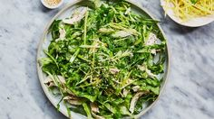 Shredded Chicken Salad With Creamy Miso Dressing Smoky bacon, crunchy shredded lettuce, and an addictively zesty dressing—what's not to like? This recipe is from Cassia in Santa Monica, CA.   Bon Appetit