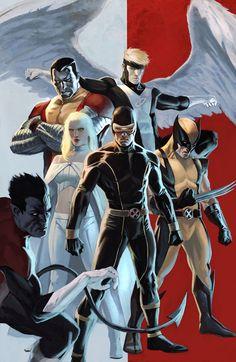 X-men ~ Colossus, Angel, Emma Frost, Cyclops, Wolverine and Nightcrawler