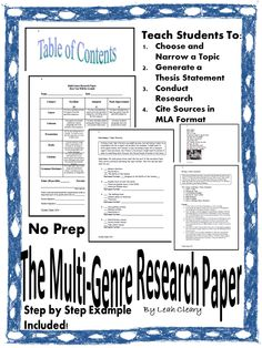 multi genre research paper ideas