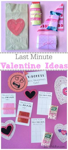 Last Minute Valentine Ideas for Kids -- super simple ways to make the day extra special!