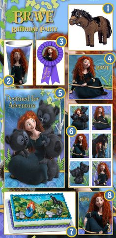 8 Things Your Brave Party Can't Live Without.  For more Disney's Brave Party Supplies, check out this Brave page: http://www.discountpartysupplies.com/girl-party-supplies/brave-party-supplies