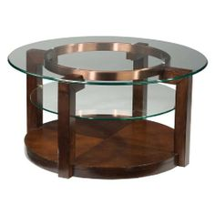 coffee table with two aluminum plates, signed ne