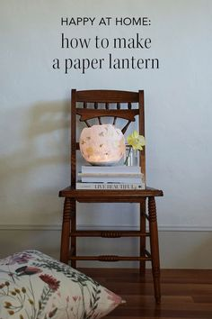 HAPPY AT HOME: how to make a paper lantern Paper Lanterns, Contemporary Design, Entryway Tables, Card Stock, Diy Ideas, Paper Crafts, Learning, Create, Happy