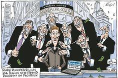 Mark Zuckerberg has 104 billion new friend requests on Facebook.    Mark Knight - 20 May 2012 | Herald Sun