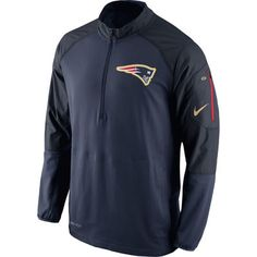 Men'sNew England Patriots Nike Navy Champ Drive Hybrid Half-Zip Performance Jacket
