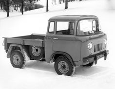 1956 Willys Jeep FC-150 Pick-Up. Like a little semi.