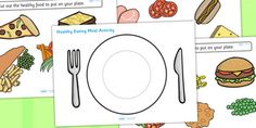 Allow children to demonstrate their knowledge of healthy eating as they create a well-balanced plate of food from the options available in this fun activity! Food Crafts, Preschool Crafts, Preschool Ideas, Teaching Ideas, Healthy Teeth, Eat Healthy, Vegetable Coloring Pages, Group Meals, Food Groups