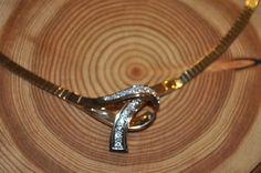Vintage 14K Yellow Gold Omega .75ct Diamond Necklace by CM/J #CMJ
