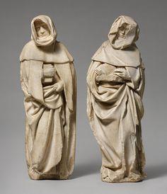 Étienne Bobillet and Paul de Mosselman,  Franco-Netherlandish Figurine of Mourners, Bourges, c. 1453