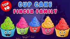 Cup Cake Finger Family Rhyme | Halloween Finger Family Songs