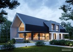 Modern Barn House, Barn House Plans, Modern House Plans, Modern House Design, Metal Building Homes, Building A House, Residential Architecture, Modern Architecture, Gable House
