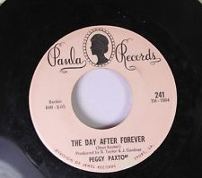Rock 45 Peggy Paxton - The Day After Forever / Billy Baby On Paula Records