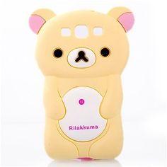3D Rilakkuma Bear silikone soft-Hülle für Samsung S3 i9300/ Note 2 N7100