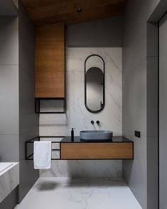 its-my-living: Minimalist Bathroom Inspiration Interior Minimalista, Design Minimalista, Simple Bathroom, Modern Bathroom, Bathroom Grey, Bathroom Marble, Master Bathroom, Cool Bathroom Ideas, Serene Bathroom