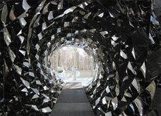 Olafur Eliasson, Your spiral view, 2002, steel. Installation view, Fondation Beyeler, Basel.