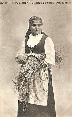 Portugal Ethnic Costumes Peasant Ceifeira Da Beira Early 1900