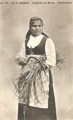 Portugal Ethnic Costumes Peasant Ceifeira Da Beira Early 1900