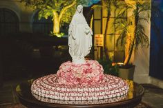 Baptism Decorations, Weeding, Cake, Crafts, Wedding Ceremony Decorations, Marriage Reception, Dream Wedding, Religious Wedding, Floral Arrangements