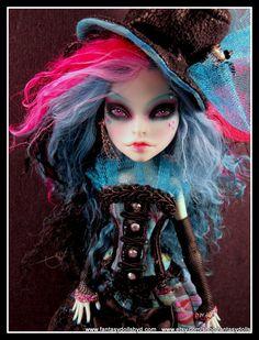 Monster High Doll Scarah Repaint OOAK Custom Doll by Fantasy Dolls. Follow me on Facebook: https://www.facebook.com/pages/Fantasy-Dolls-by-DonnaAnne/837776306265877
