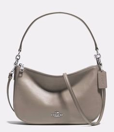 New Coach Smooth Leather Chelsea Crossbody Silver/Fog Grey 37018 w/ Dust Bag #Coach #MessengerCrossBody