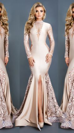 Fashion Evening Gowns Formal Dresses for Girl Gowns With Sleeves – inloveshe Nice Long Dresses, Pretty Dresses For Women, Girls Formal Dresses, Elegant Dresses, Beautiful Dresses, Evening Dresses Online Shopping, Women's Evening Dresses, Satin Dresses, Sexy Dresses