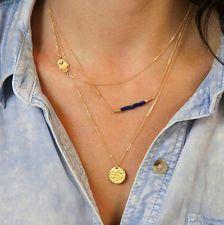 Unique Jewelry - #10 Pendant Charm Chain Crystal Choker Statement Bib String Necklace Jewelry