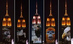 Empire State Building broadcasts picture of Cecil the Lion above NYC