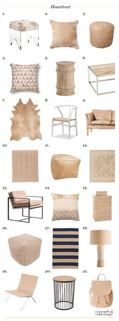 pantone hazelnut, interior design get the look, interior styling ideas, interior design ideas, light brown, pale brown, hazelnut brown, camel brown, camel tan, caramel brown, 2017 color trends