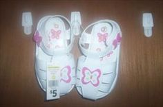 StorkBrokers.com: Size 7 Butterfly Velcro Sandals NWT, Kids, $2.50
