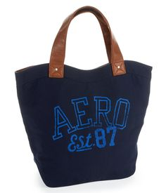 Aero Wave Canvas Tote - Aeropostale