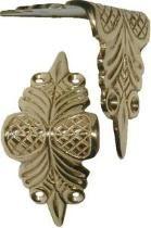 Shenandoah Restoration Trunk hardware - Corners, edge clamps, brass plated, cast brass