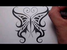 Drawing a Cool Tribal Butterfly Tattoo Design