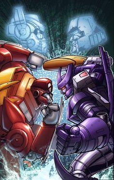Rodimus Prime vs Galvatron