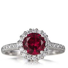 Diamonique 1.7ct tw Christmas Ring Sterling Silver