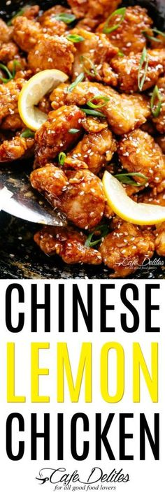 Frugal Food Items - How To Prepare Dinner And Luxuriate In Delightful Meals Without Having Shelling Out A Fortune Chinese Lemon Chicken - Cafe Delites Best Chicken Recipes, Turkey Recipes, Asian Recipes, Healthy Recipes, Chicken Meals, Chinese Recipes, Shrimp Recipes, Chinese Lemon Chicken, Chinese Food