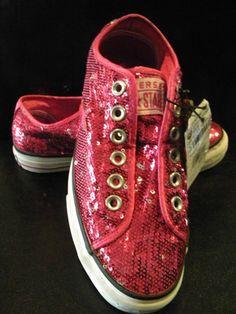 $19.99 Ebay  NWT Converse Sequine Fushia Shoes!