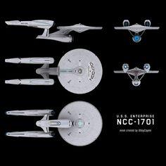 Abramsverse U.S.S. Enterprise NCC-1701 schematic by ~trekmodeler on deviantART