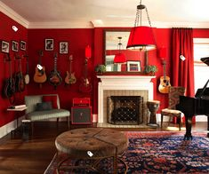 Browse home red color living room design ideas. Find best and modern red living room decorating ideas, tips, walls, accessories, photos and pics.