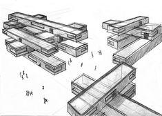 Resultado de imagen de bocetos de proyectos arquitectonicos