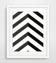 Black Chevron Art, Black And White Geometric Art, Chevron Wall Art, Black  Wall Prints, Chevron Decor, Black Artwork, Geometric Home Decor