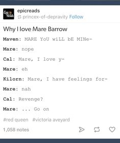 Mare Barrow This is basically the plot of Glass Sword :P Book Memes, Book Quotes, Red Queen Quotes, Red Queen Book Series, Red Queen Victoria Aveyard, Glass Sword, King Cage, Book Fandoms, Love Book