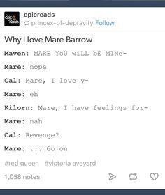 Mare Barrow #RedQueen #GlassSword