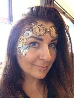 Steampunk face painting by Eleanor Ross @ Spectrum Face Painting & Body Art