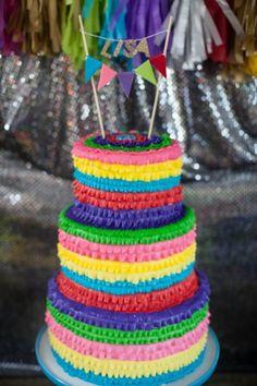 Una tarta preciosa para una fiesta mexicana / A lovely cake for a mexican party