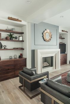 A Stunning Salt Lake City Home Tour: #classicmodernremodel rich details make this family room inviting. Check out the full home tour!