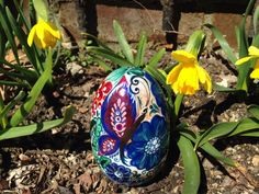 Easter Wooden Bunny Egg/Goose Egg Hand by RussianFolkPaintings